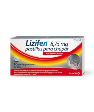 Lizifen 8,75mg 16 pastillas para chupar Sabor Menta Fresca
