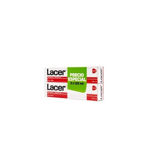 Lacer Pasta Dentífrica FORMATO AHORRO 2x125 ml